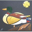 Canard, collage original de Vianney Frain