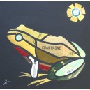 Grenouille, collage original de Vianney Frain